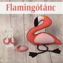 """Anyák napi """"Flamingótánc"""" névre hallgató korall fonalékszer és textilfigura kollekció"""