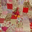 Vintage takaró Barbarának, Dekoráció, Otthon, lakberendezés, Lakástextil, Takaró, ágytakaró, Varrás, Ez a termék megrendelésre készült!  Piros-vintage 210x160 cm takaró . Vliessel töltve. Ha tetszik s..., Meska