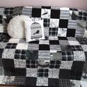 fekete-fehér patchwork takaró, Otthon, lakberendezés, Lakástextil, Takaró, ágytakaró, Varrás, Ez a takaró megrendelésre készült! Ha tetszik szívesen elkészítem neked is. A takarók egyedi( kérés..., Meska
