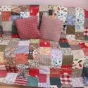 színes kockák kavalkádja patchwork takaró, Otthon, lakberendezés, Lakástextil, Takaró, ágytakaró, Varrás, Ez a takaró megrendelésre készült, de ha tetszik szívesen elkészítem a neked megfelelőt.( méret,szí..., Meska
