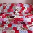 piros óriás patchwork takaró, Otthon, lakberendezés, Lakástextil, Takaró, ágytakaró, Varrás, Ez a takaró megrendelésre készült, de szivesen elkénszítem a neked tetsző vagy hasonló takarót. Mér..., Meska