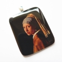 Leány gyöngy fülbevalóval - medál, Vermeer egyik leghíresebb képe medálon. Mindenk...