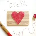 Szív fonalgrafika, Dekoráció, Otthon, lakberendezés, Szerelmeseknek, Falikép, Mindenmás, Fonalgrafikával készített falidísz, ami tökéletes ajándék lehet különleges alkalmakra, vagy csak úg..., Meska