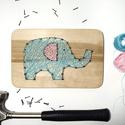 Elefántos fonalgrafika, Baba-mama-gyerek, Dekoráció, Gyerekszoba, Baba falikép, Kisfiad lesz? Vagy egyszerűen csak imádod az elefántokat? Akkor ez az édes, színes elefántos fonalgr..., Meska