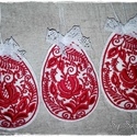 Hímzett filc tojások levendulával töltve, Magyar motívumokkal, Dekoráció, Ünnepi dekoráció, Húsvéti apróságok, Hímzés, Varrás, Hófehér filc alapra hímeztem a szépséges kalocsai mintát, megannyi harmonikus színkombinációban. Te..., Meska