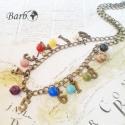 Egy-két-há! - bronz nyaklánc féldrágakövekkel, Erre az antik bronz színű nyakláncra számokat ...