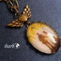 Örökké Együtt - antik bronz nyaklánc, Ékszer, Nyaklánc, Vintage stílusú antikolt bronz nyaklánc. A medál akasztóval együtt 4,5 cm hosszú, szárnyas s..., Meska