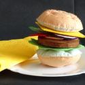 Hamburger készítő szett, HAMBURGER KÉSZÍTŐ SZETT Anyaga: Strapabíró ba...