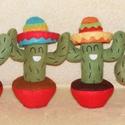 Kaktusz-Marci, Baba-mama-gyerek, Dekoráció, Játék, Otthon, lakberendezés, Baba-és bábkészítés, Varrás, Kaktusz-marcit párom kérésére terveztem és készítettem el. Aztán bekapcsolódtak a kicsik is és így ..., Meska