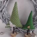 karácsonyfák, Dekoráció, Ünnepi dekoráció, Karácsonyi, adventi apróságok, Karácsonyi dekoráció, Mirabilisz részére készült sok szeretettel 3 db fenyőfa., Meska