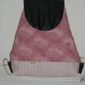 Rózsaszín női hátizsák, Táska, Hátizsák, Női hátizsák pamut és műbőr kombinációjából.   A műbőr betét igazán fiatalossá teszi ..., Meska