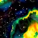 Zöld csillagköd (üvegmandala), Képzőművészet, Dekoráció, Festmény, Kép, Festészet, Festett tárgyak, Kézzel vágott-csiszolt, 23 cm-es üveglapra festett mandala.  Kérhető nagyobb méretben is, az ár enn..., Meska