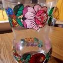 Kalocsai kézzel festett váza ., Magyar motívumokkal, Konyhafelszerelés, Otthon, lakberendezés, Szabad kézzel festem ,eredeti kalocsai minta alapján . Száradás után ki égetem ,így tartós a festés ..., Meska