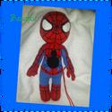 Pókember , Játék, Baba-mama-gyerek, Báb, Játékfigura, A képen látható pókember kb.35cm-es nagyságban, horgolva készült. A teljes test és fej póke..., Meska