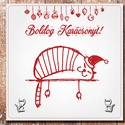 Karácsonyi ajándék - Egyedi karácsonyi ajándék lap, cicás - Swarovski kristállyal díszített cicás fülbevalóval, Dekoráció, Ünnepi dekoráció, Karácsonyi, adventi apróságok, Ajándékkísérő, képeslap, Fotó, grafika, rajz, illusztráció, Papírművészet, Karácsony ajándék gyönyörű cicás Swarovski kristállyal díszitett fülbevalóval.  Egyedi ajándék bárm..., Meska