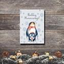 Karácsonyi képeslap - állatos üdvözlőlap - Boldog Karácsonyt!, Dekoráció, Ünnepi dekoráció, Karácsonyi, adventi apróságok, Ajándékkísérő, képeslap, Fotó, grafika, rajz, illusztráció, Papírművészet, Karácsonyi képeslap, üdvözlőlap állatos mintával.  Küldj egyedi karácsonyi képeslapot szeretteidnek..., Meska