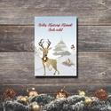 Karácsonyi képeslap - állatos, szarvasos üdvözlőlap - Boldog Karácsonyt! , Dekoráció, Ünnepi dekoráció, Karácsonyi, adventi apróságok, Ajándékkísérő, képeslap, Fotó, grafika, rajz, illusztráció, Papírművészet, Karácsonyi képeslap, üdvözlőlap állatos mintával.  Küldj egyedi karácsonyi képeslapot szeretteidnek..., Meska