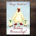 Karácsonyi képeslap - állatos, jegesmedve üdvözlőlap - Boldog Karácsonyt!, Dekoráció, Ünnepi dekoráció, Karácsonyi, adventi apróságok, Ajándékkísérő, képeslap, Fotó, grafika, rajz, illusztráció, Papírművészet, Karácsonyi képeslap, üdvözlőlap állatos mintával.  Küldj egyedi karácsonyi képeslapot szeretteidnek..., Meska
