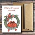 Karácsonyi képeslap - állatos, madárkás üdvözlőlap - Boldog Karácsonyt!, Dekoráció, Ünnepi dekoráció, Karácsonyi, adventi apróságok, Ajándékkísérő, képeslap, Fotó, grafika, rajz, illusztráció, Papírművészet, Karácsonyi képeslap, üdvözlőlap állatos, madárkás mintával.  Küldj egyedi karácsonyi képeslapot sze..., Meska