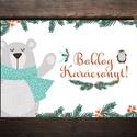 Karácsonyi képeslap - állatos, medvés, pingvines üdvözlőlap - Boldog Karácsonyt!, Dekoráció, Ünnepi dekoráció, Karácsonyi, adventi apróságok, Ajándékkísérő, képeslap, Fotó, grafika, rajz, illusztráció, Papírművészet, Karácsonyi képeslap, üdvözlőlap állatos mintával.  Küldj egyedi karácsonyi képeslapot szeretteidnek..., Meska