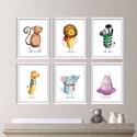 Babaszoba fali dekoráció, majom, oroszlán, zebra, zsiráf, elefánt, viziló fali kép A4 méretben, Baba-mama-gyerek, Dekoráció, Gyerekszoba, Baba falikép, Babaszoba | Gyerekszoba fali képek, állatos képek keret nélkül  Az ár 1 db-os képre vonatkozi..., Meska