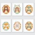 Babaszoba fali dekoráció, maci, szarvas, róka, nyuszi, farkas fali kép A4 méretben, Baba-mama-gyerek, Dekoráció, Gyerekszoba, Baba falikép, Fotó, grafika, rajz, illusztráció, Papírművészet, Babaszoba | Gyerekszoba fali képek, állatos képek keret nélkül  Az ár a 3 db-os kép szettre vonatko..., Meska