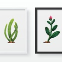 Kaktuszok - fali dekoráció, fali kép A4 méretben, Dekoráció, Otthon, lakberendezés, Kép, Falikép, Kaktuszos fali képek, A4-es képek keret nélkül  Az ár a 3 db-os kép szettre vonatkozik. Az ös..., Meska
