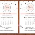 Save the date lap - Esküvői dátum emlékeztető lap letisztult dizájnnal, Esküvő, Meghívó, ültetőkártya, köszönőajándék, Save the date lap - Esküvői dátum emlékeztető lap letisztult dizájnnal Heni egyedi megrendelé..., Meska
