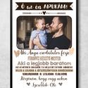 Apák napi ajándék, legjobb apa poszter A4 méretben, keret nélkül, Otthon & Lakás, Felirat, Dekoráció, Fotó, grafika, rajz, illusztráció, Papírművészet, Egyedi poszter, különleges ajándék Apukáknak.  Apák napi ajándék, legjobb apa poszter A4 méretben, ..., Meska