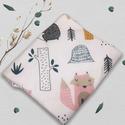 Mosható textil szalvéta (Forest), Kívül mintás pamutvászon, belül vízhatlan, s...