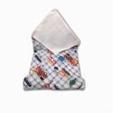 Mosható textil szalvéta (Kisautók), Kívül mintás pamutvászon, belül vízhatlan, s...