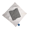 Mosható textil szalvéta (Fekete-fehér kockás), Kívül mintás pamutvászon, belül vízhatlan, s...