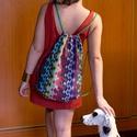 Kígyómintás tornazsák, Baba-mama-gyerek, Táska, Hátizsák, Varrás, 37x 50 cm tornazsák. Bélelt, állítható pántos hátizsák, nagyon divatos designer textilből. Bármilye..., Meska