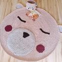 Macis horgolt szőnyeg, Baba-mama-gyerek, Otthon, lakberendezés, Gyerekszoba, Ezzel a különleges horgolt szőnyeggel az egész gyerekszoba hangulatát meg tudod adni.Pólófonalból ké..., Meska