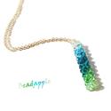 Kékből-zöldbe- Swarovski nyaklánc, Nagyon szeretem a színátmenetes karkötőket, de...