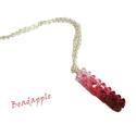 Málnavarázs- Swarovski nyaklánc, Ékszer, Medál, Nyaklánc, Ismét egy színátmenetes medált készítettem, csupa csillogó Swarovski kristályból.   Ezúttal a rózsas..., Meska