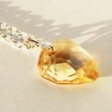Swarovski szikla medál- Crystal golden shadow, Ékszer, óra, Medál, Nyaklánc, Azt hiszem, a Swarovski ékszerek kedvelőinek nem kell bemutatnom a márkát: a csodásan csillogó krist..., Meska