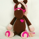 Paci, Baba-mama-gyerek, Játék, Játékfigura, Paci nagyon barátságos, vidám ló, aki legjobb barátja lehet bármilyen kisgyereknek.  Gazdája eddig n..., Meska