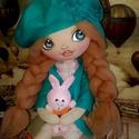 Doroti baba, Dekoráció, Játék, Játékfigura, Plüssállat, rongyjáték, Baba-és bábkészítés, Varrás, 37 cm magas , egyedi textilbaba. Arcát kézzel festettem, haja 100 % gyapjúból készült. Ruházata rét..., Meska