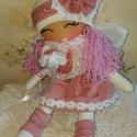 Tündér baba, Játék, Baba játék, Játékfigura, Plüssállat, rongyjáték, Baba-és bábkészítés, Varrás, 37 cm magas természetes alapanyagokból készült  könnyű, puha babácska. A baba keze és lába mozgatha..., Meska
