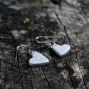 Mini szív fülbevaló, ezüst, Ékszer, óra, Fülbevaló, Ha szolid, de cuki darabokat szereted, ez igazán neked való. Mini szívecske ezüst színben.   A szíve..., Meska