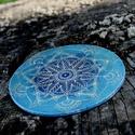 Mandala türkizben, Dekoráció, Otthon, lakberendezés, Türkizkék kerámia Torokcsakra Mandala nem csak spirituálisoknak. Energetizáló lakás illetve terasz d..., Meska