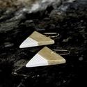 Arany háromszög BRékszer fülbevaló, Ékszer, óra, Fülbevaló, Ha szereted a geometrikus ékszereket. Ha szimbólum alapján választasz - nőiség, befogadás, földi ene..., Meska