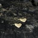 Mini szív fülbevaló, arany, Ékszer, óra, Fülbevaló, Ha szolid, de cuki darabokat szereted, ez igazán neked való. Mini szívecske arany színben.   A szíve..., Meska