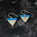 Arany-türkiz háromszög BRékszer fülbevaló, CSAK MA! FÉLÁRON! Ha szereted a geometrikus éks...