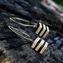 Arany - fekete kocka BRékszer fülbevaló, Modern, elegáns, egyedi és különleges, mint Te...