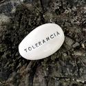 TOLERANCIA - Kerámia Üzenetkavics, Dekoráció, Otthon, lakberendezés, Legyél egyedi minden pillanatban!  Válassz a meglévő feliratokból vagy találd ki saját üzenetedet  é..., Meska