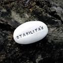 STABILITÁS - Kerámia Üzenetkavics, Dekoráció, Otthon, lakberendezés, Ékszerkészítés, Kerámia, Legyél egyedi minden pillanatban!  Válassz a meglévő feliratokból vagy találd ki saját üzenetedet  ..., Meska