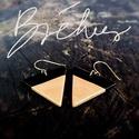 Rose gold - fekete  háromszög BRékszer fülbevaló, Ékszer, Fülbevaló, Ha szereted a geometrikus ékszereket. Ha szimbólum alapján választasz - nőiség, befogadás, földi ene..., Meska