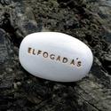 ELFOGADÁS - Kerámia Üzenetkavics, Dekoráció, Otthon, lakberendezés, Legyél egyedi minden pillanatban!  Válassz a meglévő feliratokból vagy találd ki saját üzenetedet  é..., Meska